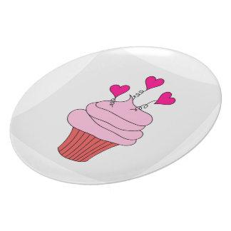 Yummy Pink Cupcake Plates