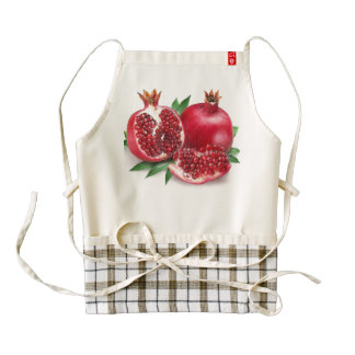 Yummy Pomegranates - Zazzle Heart Apron