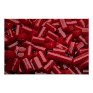 Yummy Red licorice Posters