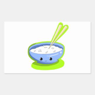 Yummy Rice Rectangular Sticker