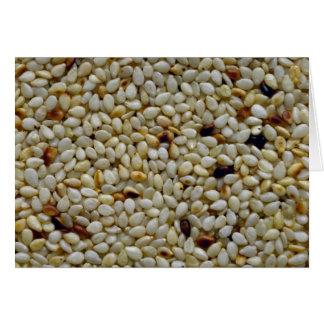 Yummy Sesame seeds Greeting Card