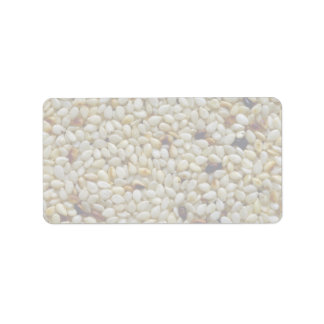 Yummy Sesame seeds Address Label