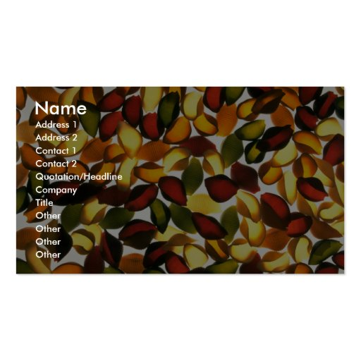 Yummy Shells Double-Sided Standard Business Cards (Pack Of 100)