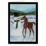 Yummy Snowman Foal Christmas Card