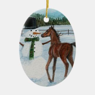 Yummy Snowman Foal Christmas Ornament