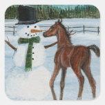 Yummy Snowman Foal Christmas Sticker