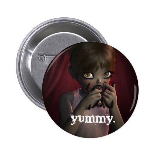 Yummy Spider 2 Inch Round Button