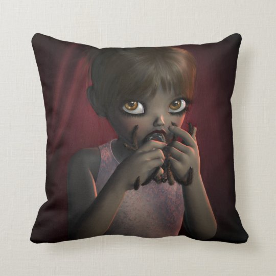 Yummy Spider Throw Pillow
