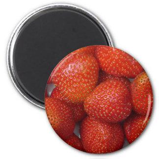 yummy strawberry 2 inch round magnet