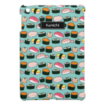 Yummy Sushi Fun Illustrated Pattern Cover For The iPad Mini