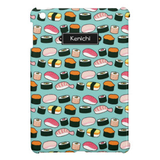 Yummy Sushi Fun Illustrated Pattern Cover For The Ipad Mini at Zazzle