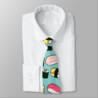 Yummy Sushi Fun Illustrated Pattern Neck Tie