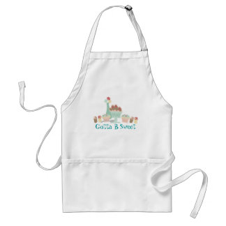 Yummy sweet desserts baker pastry chef apron