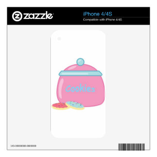 Yummy Sweets Dessert Food Pink Cookie Jar Guests iPhone 4S Decals