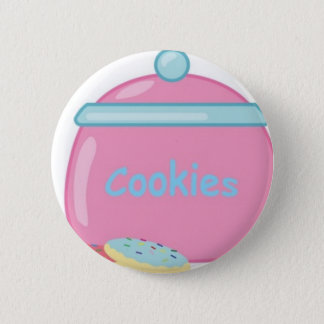 Yummy Sweets Dessert Food Pink Cookie Jar Guests Pinback Button