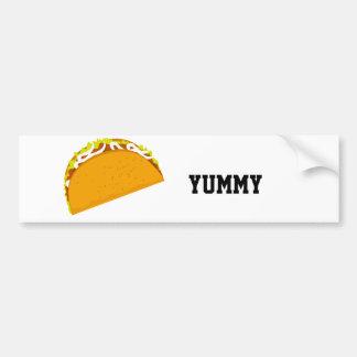 Yummy Taco Bumper Sticker