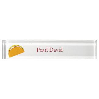 Yummy Taco Custom Desk Name Plate