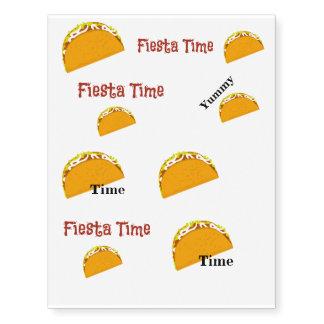 Yummy Taco Fiesta Temporary Tattoos