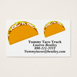 Yummy Taco Food Truck Business Cards