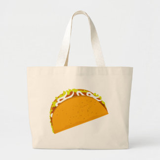 Yummy Taco Large Tote Bag