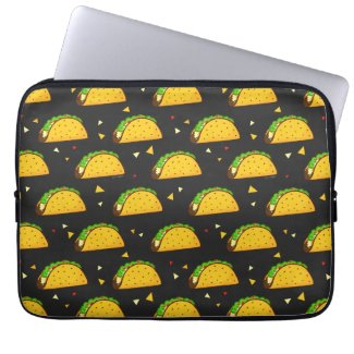 Yummy Taco Pattern Laptop Sleeve