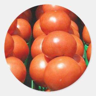 Yummy Tomatoes Classic Round Sticker