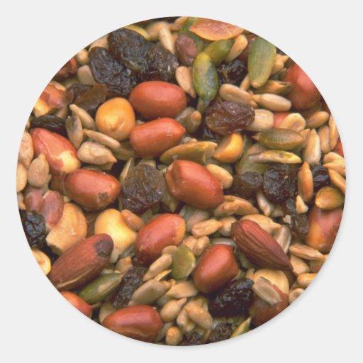 Yummy Trail mix Classic Round Sticker