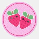 Yummy Treats Strawberry Kawaii Stickers