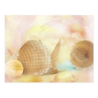Yummy waffle cones postcard