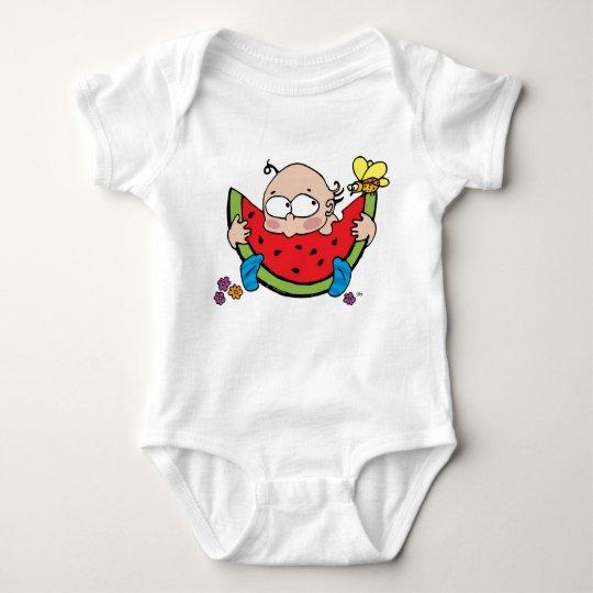 Yummy Watermelon Baby Bodysuit