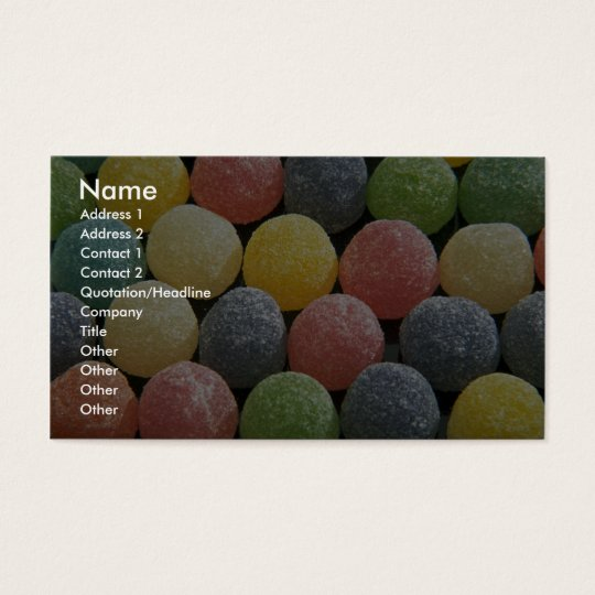 Yummy Wine gums Business Card