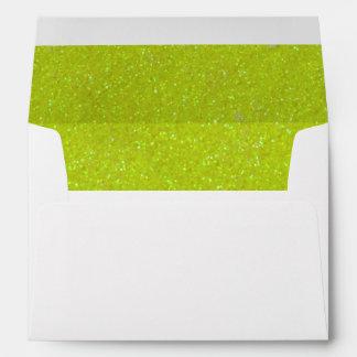 Yummy Yellow Glitter Envelope