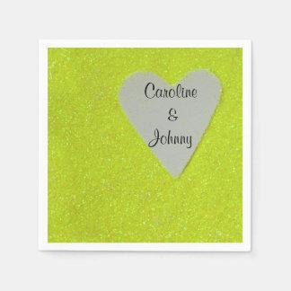 Yummy Yellow Hearts Paper Napkin