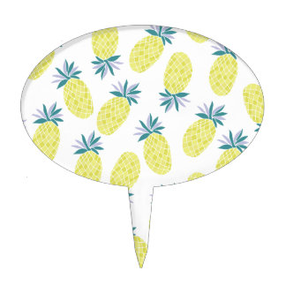 Yummy Yellow Pineapples Summer Fruit Cake Topper