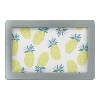 Yummy Yellow Pineapples Summer Fruit Rectangular Belt Buckle