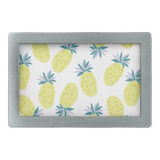 Yummy Yellow Pineapples Summer Fruit Rectangular Belt Buckle