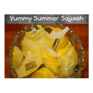 Yummy Yellow Squash Recipe Postcard
