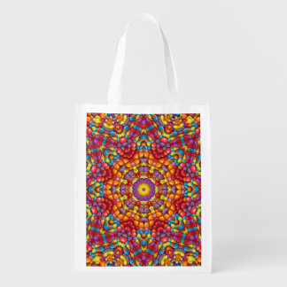 Yummy Yum Yum Colorful Reusable Bags Market Totes
