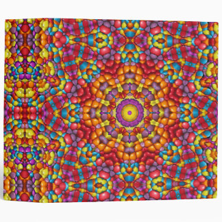 Yummy Yum Yum Kaleidoscope  EZD&trade Ring Binders
