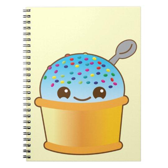 Yummy yummy bucket ice-cream kawaii! NP Spiral Notebook