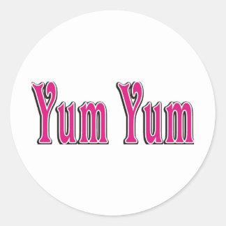 yumyum classic round sticker