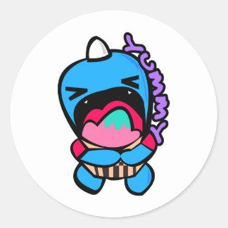 yumyum monster classic round sticker