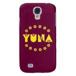 Yuna en el amarillo de Flores