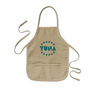 Yuna in Flores Blue Kids' Apron