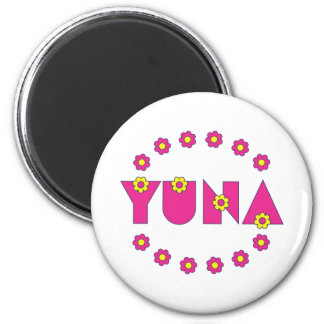Yuna in Flores Pink Magnets