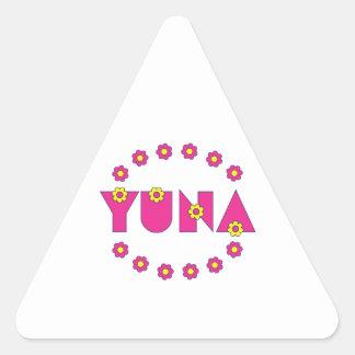 Yuna in Flores Pink Triangle Sticker