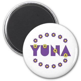 Yuna in Flores Purple Refrigerator Magnets