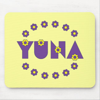 Yuna in Flores Purple Mouse Pad