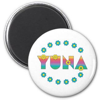Yuna in Flores Rainbow Refrigerator Magnets