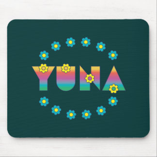 Yuna in Flores Rainbow Mouse Pad